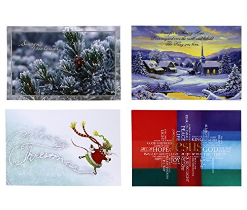 Christian Collection Christmas Cards - 24 Each Of 4 Styles - 96 Total Cards