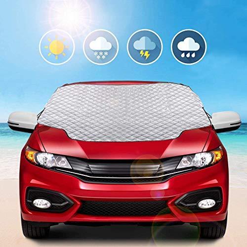MYSBIKER Windschutzscheibe Abdeckung Frontscheibenabdeckung Auto Winterabdeckung Frostschutz (L)