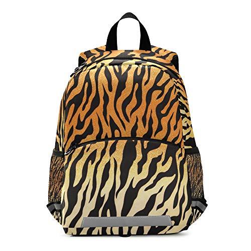Mochila para niños con estampado de leopardo de RELEESSS con correa en el pecho, mochila escolar para niños y niñas