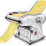 SJTL Macchina per Pasta Manuale con Manovella Sfogliatrice, Macchina per La Pasta in Casa Acciaio Inossidabile per Tagliatelle/Spaghetti/Lasagna/Ravioli,2 Blade