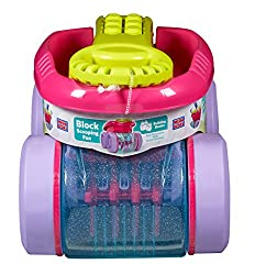 A child\'s toy for picking up blocks.