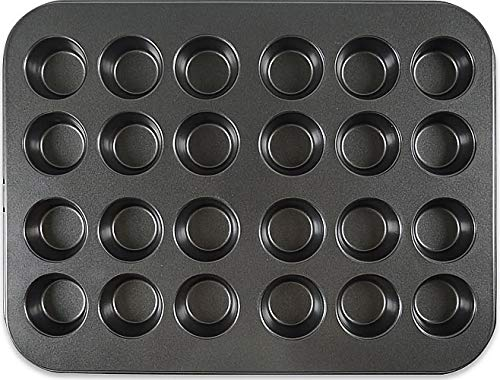 Muffin Pan,Mini Cupcake Pan,Non-Stick 24 Cup Baking Pans,Heavy Duty Carbon Steel Muffin Tin Standard Baking Mold Pan for Oven Baking …