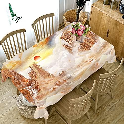 Aeici Manteles De Tela Rectangulares 140X180Cm, Manteles Mesa Rectangular para Cocina, Mantel Amanecer En Las Montañas