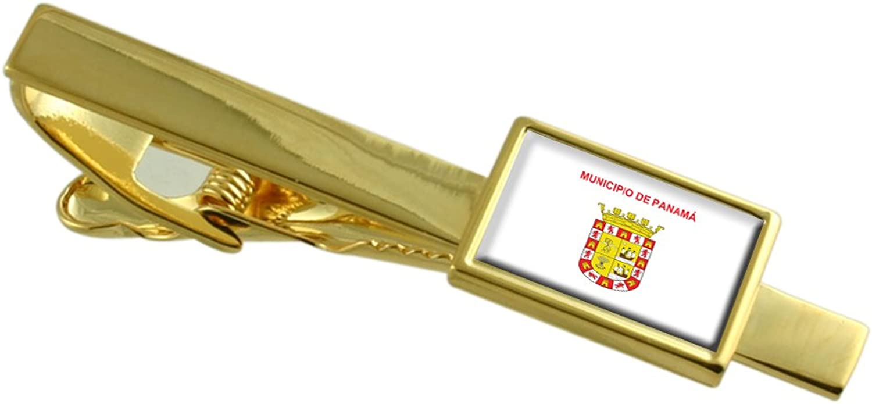 Panama City Panama Flag gold Tie Clip