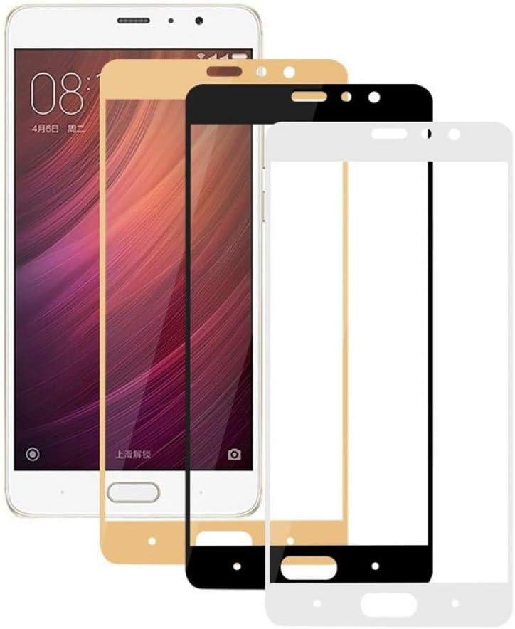 JVSJ 2PCS para Cobertura Completa Protector de Pantalla Vidrio Templado para Xiaomi Redmi 4 Pro Note 4X 3S 3X 4A Mi5 Mi6 Mi5S Mi A1 5 6 5S Película endurecida,For Xiaomi Mi5,Black