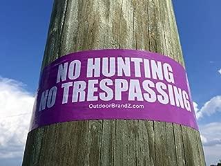 PURPLE - NO HUNTING/NO TRESPASSING VINYL BOUNDARY TAPE