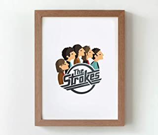 "Stampa"" The Strokes"". Disponibile in due misure: A4 / A3."