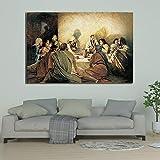 Geiqianjiumai Última Cena del Famoso Pintor Cartel de Lienzo y Grabado Decoración de la Sala Pintura Arte Cuadro de la Pared Pintura sin Marco 60x90cm