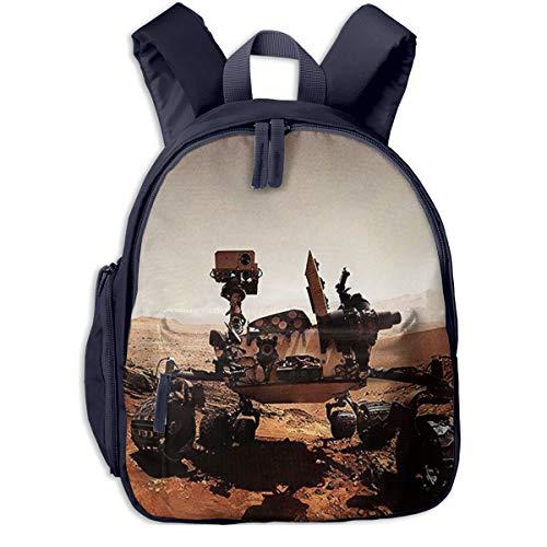 Children Backpack Awesome Mars Rover, Rucksack Kids Children's Toddler Student School Backpack Bag Travel Sports Daypack for Kindergarten Preschool Boys Girls