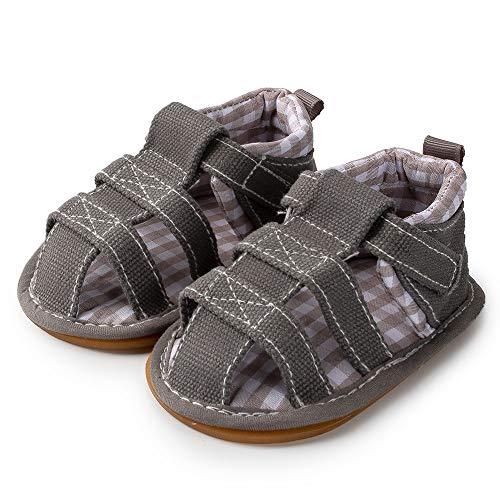 Sawimlgy Baby Boys Girls Summer Dress Sandals Soft Rubber Sole Non-Slip Beach Sandals Infant Newborn Toddler First Walker Crib Walking Shoes