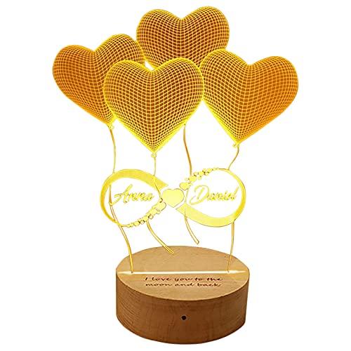 Personalisierte Bluetooth-Musiklampe 16-Farben-Lampe 3D-Buchstaben-Licht Kundenspezifische Namenslampe Jahrestag für Frauen(Infinity-Bluetooth-Musiklicht)
