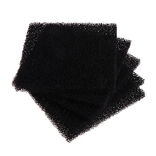 Xuniu 5 stücke Aktivkohle Schaum Schwamm Luftfilter Imprägniertes Blatt Pad Schwarz 13 cm x 13 cm x 1 cm