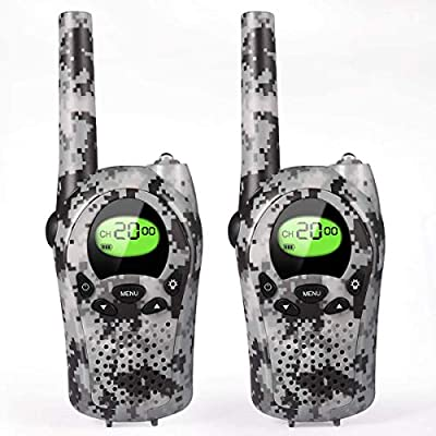 Walkie Talkies for Kids, 22 Channel 2 Way Radio 3 Mile Long Range Kids Toys, Up to 3KM UHF Handheld Walkie Talkies, Toys and Gifts for 4, 5,6, 7, 8 Year Old Boys and Girls