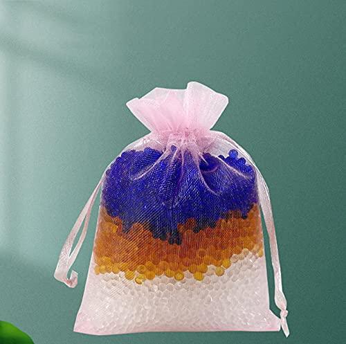 FHUILI 10 Confezioni *100 g,Essiccante di Gel di silice,Gel di silice per asciugare fioricon Cristalli Sottili,disseccanti,Riutilizzabile,con indicazione del Colore