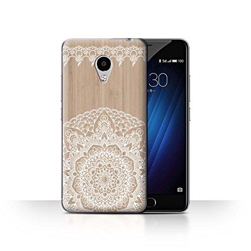 Stuff4Phone Case/Cover/Skin/mzum3s/fine Lace Wood Collection Mandala Bambou