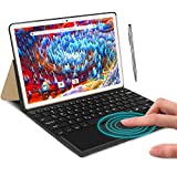 Tablet Ocho Núcleos 4G LTE Android 9.0 DUODUOGO A39+ Tablet 10.1 Pulgadas 4GB RAM 64GB ROM/128GB Escalables 8000mAh Doble 4G SIM/Cámara Tablet PC 2.3GHz Asistente de Voz de Google GMS Netfilx (Oro)