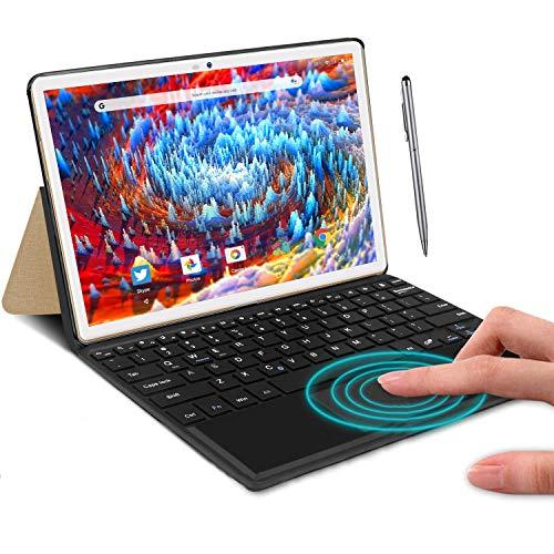Achtkern-Tablet 4G LTE Android 9.0 DUODUOGO A39+ 25,7 cm (10,1 Zoll), 4 GB RAM, 64 GB ROM/128 GB, skalierbar, 8000 mAh, Dual-SIM, Kamera, Tablet PC, 2,3 GHz, Sprachverstärker X (Gold)