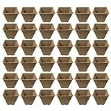 Cabilock Plantones de Turba Bandejas de Inicio de Semillas Set de Propagador de Jardín Kit de Germinación de Jardín Bandejas de Germinación Bandeja de Germinación Semillas de Trigo