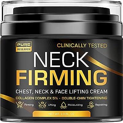 Pure Sciences Neck Firming Cream - Anti Wrinkle Cream - Made in the USA - Saggy Neck Tightener & Double Chin Reducer Cream - Collagen & Retinol Skin Tightening Cream - Neck & Décolleté Anti Aging Moisturizer