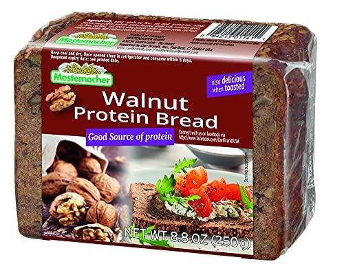 Mestemacher Protein Bread, Walnut, 79.2 Oz, 9 Count