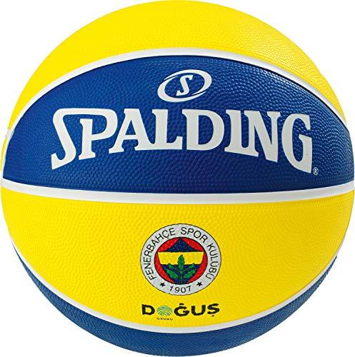 Spalding Unisex-Adult 3001587014417_7 Basketball, Yellow,Blue, 7