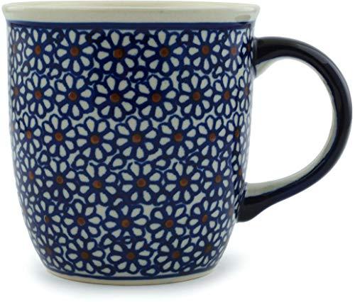 Original Bunzlauer Keramik Kaffee Becher V=0,35 Liter im Retro-Dekor 120