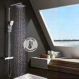 Kibath 407021 Columna termostática EXTRAPLANA de diseño Regulable en...