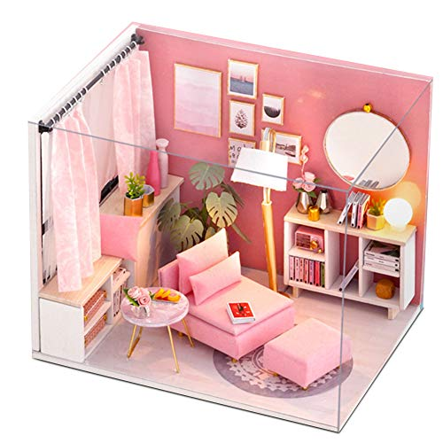 DaMohony DIY Kit de Casa de Muñecas en Miniatura Juguetes Creativos de La Casa de Muñecas Idea Creativa de La Habitación para Adolescentes Y Adultos