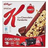 Kellogg's Barrette di Cereali con Cioccolato Fondente - 6 Pezzi...