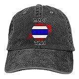 Hoswee Gorra de Béisbol Ajustable Muay Thai Adult Trendy Jeans Sun Hat Snapback Sombreros