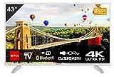 Hitachi 43HK6003W Téléviseur 43' Ultra HD 4K TV Smart TV avec Internet/WLAN et...