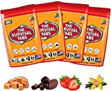 Survival Tabs - 4-Day Food Supply - Emergency Survival Food MRE for Outdoor Activities Gluten-Free, Non-GMO The Survival Tabs 25 Years Shelf Life (4 Pouches x 12 Tablets = 48 Tablets/Mixed Flavor)