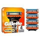 Gillette Fusion5 Power - Cuchillas de afeitar para hombre, 4 unidades, diseñadas con cuchillas antiirritación, hasta 20 afeitados por cuchilla