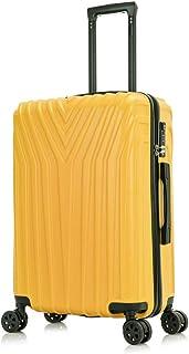 OM HOME Maleta De Cabina Equipaje De Mano ABS+PC, Cerradura TSA Ligera Resistente 55 CM (Yellow, 20 Inch 55CM)