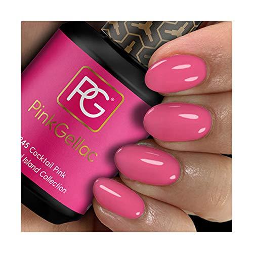 Pink Gellac Shellac Gel Nagellack 15 ml für UV LED Lampe | 245 Cocktail Pink Rosa Rose | Gel Nail...
