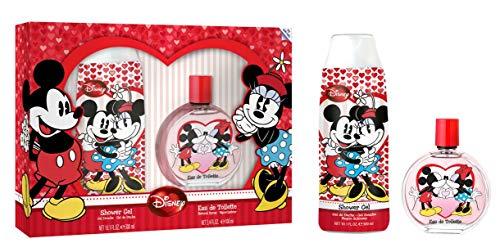 Micky und Minnie Maus Eau de Toilette & Duschgel im schönem Geschenk-Set für Mädchen, 1er Pack, 100ml/300ml
