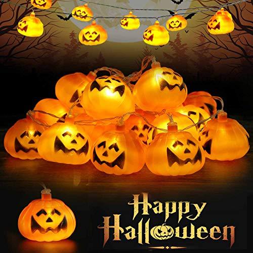 Runostrich Halloween Pumpkin String Lights, 9.8ft 20LEDs Halloween Christmas Decoration...