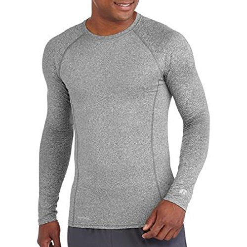 Russell Men's Performance Active Baselayer Thermal Crew Top (X-Large (Chest 46'-48'), Grey)