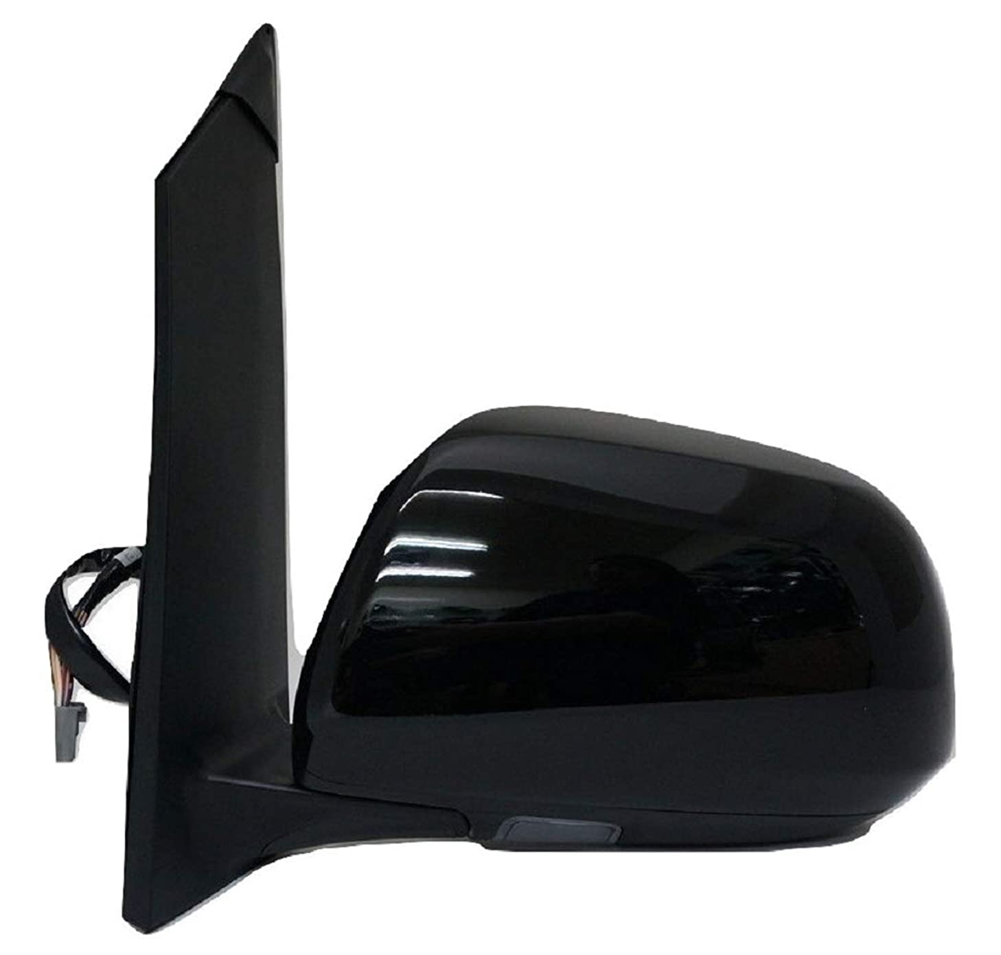 Zebra Side Exterior Mirror for 11-12 Sienna, Driver Side, W/Power, Heated, W/Memory, W/Puddle Lamp, Paint to Match Cover