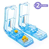 2-Pack Pill Splitter - Pill Cutter with Retracting Blade Guard -...