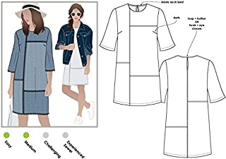 Style Arc Sewing Pattern - Jema Panel Shift Dress (Sizes 04-16) - Click for Other Sizes Available