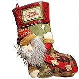 Calcetines Navideños Adorno para Chimenea Decoraciones De Árboles De Navidad para Bolsa De Embalaje De Manzana De Nochebuena Bolsa De Regalo Creativa De Dulces (Color : Old Man, Size : 21 * 50cm)