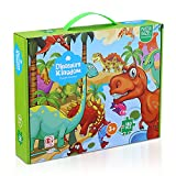 KAKAEE 180 Pieces Puzzles for Kids Ages 4-10 Dinosaurs Kingdom Jigsaw Puzzles Educational Learning Toy for Kids