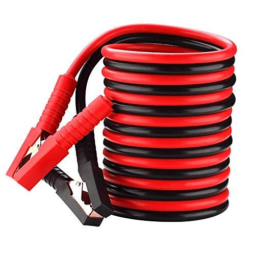 2 unids coche 3.0m cables de puente Universal Car Power Booster Carga de emergencia Cable de la batería (Color : Red)