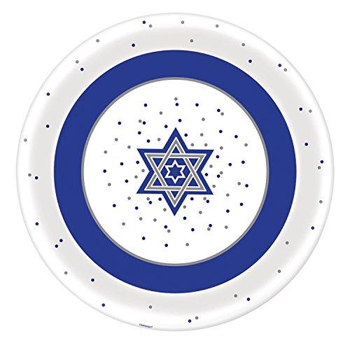 amscan Hanukkah Round Melamine Platter, 13.5'