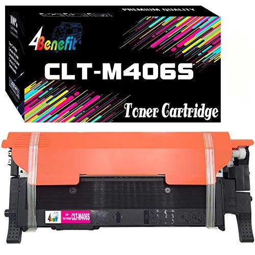 (1-Pack, Magenta) 4Benefit Compatible CLT-M406S M406S Magenta Toner Cartridge MLT406S Used for SL-C410W C460W C460FW CLP-360 CLP365 365W CLX-3300 CLX-3305 CLX-3305W Printer
