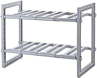 Porte-ustensiles étagères Cuisine multifonction étagère, sous l'évier Organisateurs - 2 Niveau Extensible Accueil multifon...
