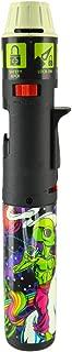 Designer Glow-in-The-Dark Turbo Blue Multi-Purpose Refillable Butane Torch Lighter Stick, Wind Proof - Alien & Unicorn