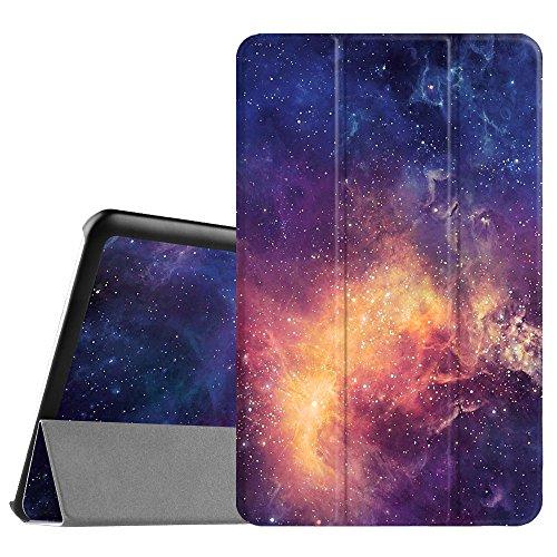 Fintie Hülle für Samsung Galaxy Tab E 9.6 - Ultra Schlank Superleicht Ständer SlimShell Cover Schutzhülle Etui Tasche für Samsung Galaxy Tab E T560N / T561N 24,3 cm (9,6 Zoll) Tablet-PC, Die Galaxie