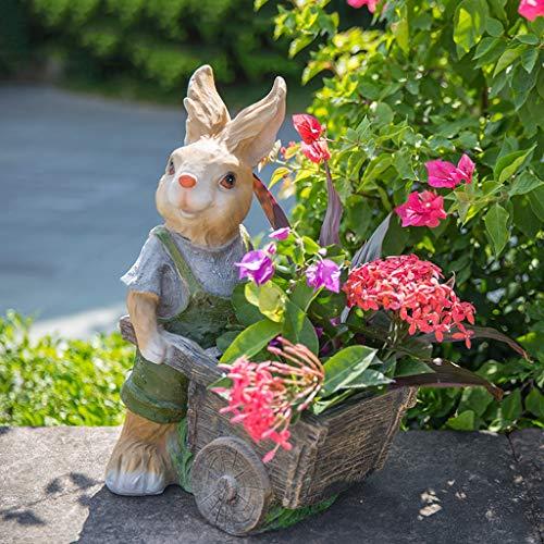 NYKK Home Accessories Rabbit Garden Ornaments, Resin Rabbit With Figurine Outdoor Statue Accessories, Decoration For Home Garden Path Lawn Decorative Accessories/Sculptures